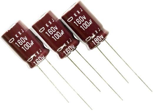 Elektrolytische condensator Radiaal bedraad 7.5 mm 22 µF 400 V 20 % (Ø x l) 18 mm x 25 mm Europe ChemiCon EKXJ401ETD220MJ25S 800 stuks
