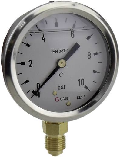 "ICH 63R10.MGE Manometer dia. 63 glyc OA 1/4"" 0 - 10BAR"