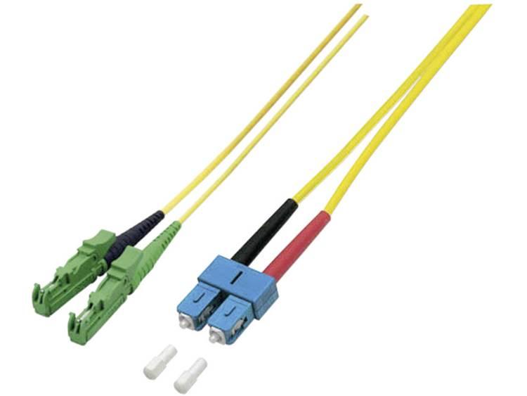 Aansluitkabel EFB Elektronik Glasvezel [1x E2000 APC 8° stekker 1x SC stekker