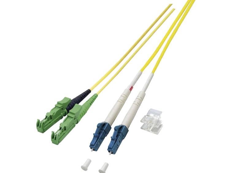 Kabel EFB Elektronik Glasvezel [1x E2000/APC 8°-stekker - 1x LC-stekker] 9/125µ 20 m
