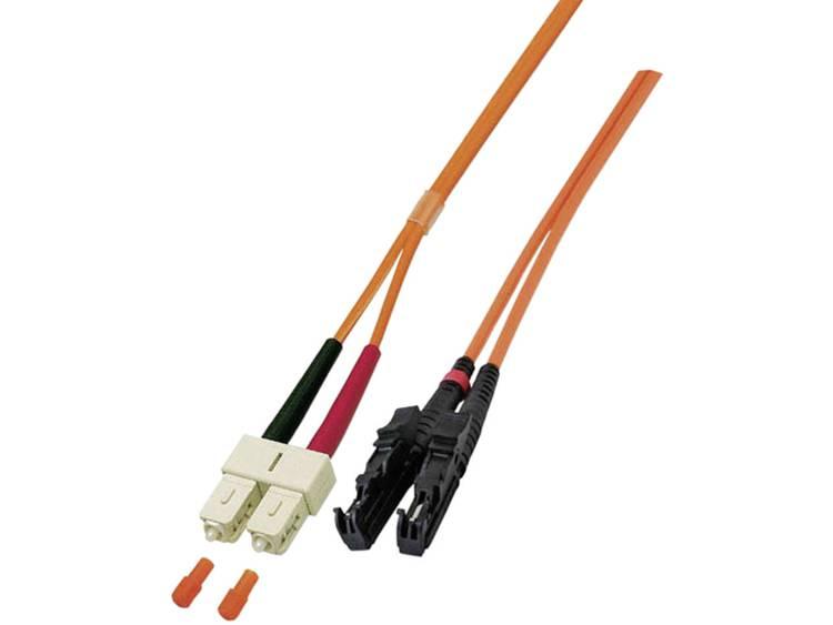 Kabel EFB Elektronik Glasvezel [1x E2000-stekker - 1x SC-stekker] 9/125µ 2 m