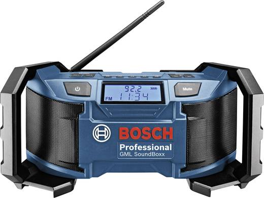 Bosch GML 14,4/18 V Sound Boxx FM Bouwradio Blauw, Zwart