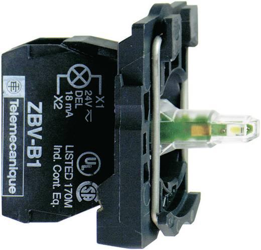 LED-element Met bevestigingsadapter, Met fitting Geel 24 V/DC, 24 V/AC Schneider Electric ZB5AVB5 1 stuks