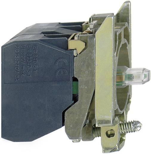 Hulpschakelaar, LED-element Met bevestigingsadapter, Met fitting 1x NO Wit schakelend 24 V/DC, 24 V/AC Schneider Electric ZB4BW0B11 1 stuks