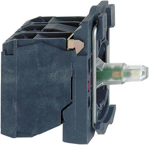 Hulpschakelaar, LED-element Met bevestigingsadapter, Met fitting 1x NO Wit schakelend 24 V/DC, 24 V/AC Schneider Electric ZB5AW0B11 1 stuks