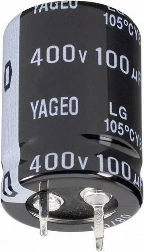 Elektrolytische condensator Snap-in 10 mm 2200 µF 100 V 20 % (Ø x h) 30 mm x 40 mm Yageo LG100M2200BPF-3040 1 stuks