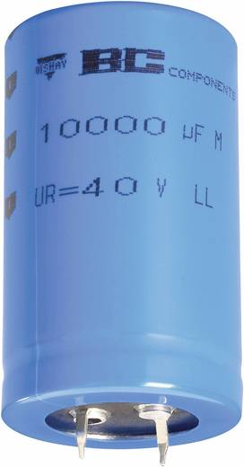 Elektrolytische condensator Snap-in 10 mm 1000 µF 63 V 20 % (Ø x h) 22 mm x 30 mm Vishay 2222 058 58102 1 stuks