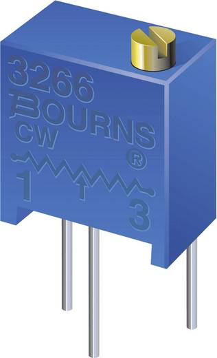 Bourns 3266X-1-202LF Spindeltrimmer 12-slagen Lineair 0.25 W 2 kΩ 4320 ° 1 stuks