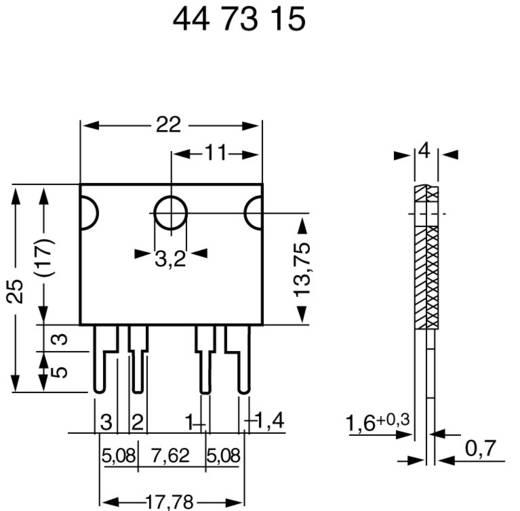 Meetweerstand 0.005 Ω 10 W (l x b x h) 22 x 4 x 17 mm Isabellenhütte PBV 0,005 1 stuks