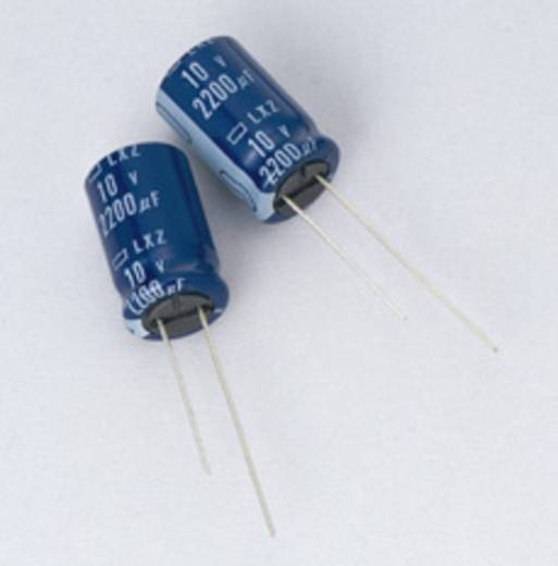 Elektrolytische condensator Radiaal bedraad 3.5 mm 220 µF 25 V/DC 20 % (Ø x l) 8 mm x 15 mm Europe ChemiCon ELXY250ELL2