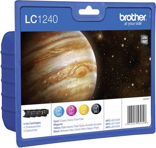 Brother Inkt LC-1240 Origineel Combipack Zwart, Cyaan, Magenta, Geel LC1240VALBPDR