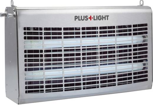 Plus Light UV-kleeffolie-insectenvanger 60 W, roestvrij staal Insectenverjager en -vanger PlusLight 60 W Insect-o-cutor ZF044