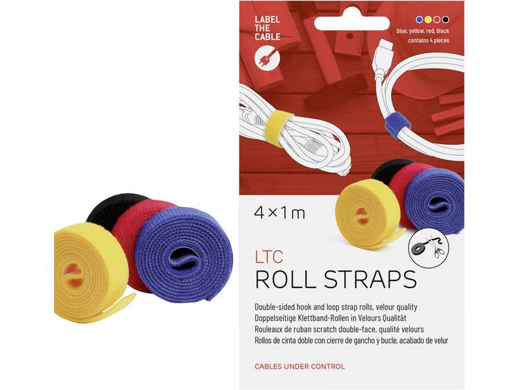 Label the Cable LTC 1230 19 inch Klittenband Geel, Zwart, Rood, Blauw