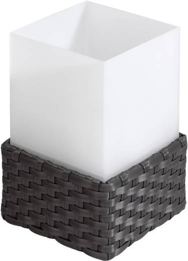 rotan 1108 Solar tafellamp Warmwit Antraciet, Wit