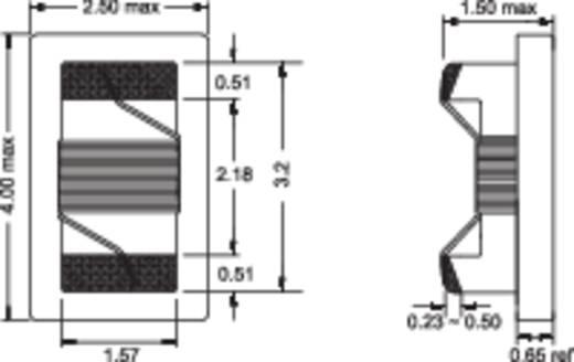 HF-spoel SMD 1206 100 nH 0.26 Ω 0.85 A Fastron 1206AS-R10J-01 1 stuks