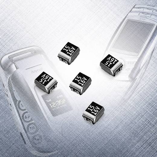 Samsung Electro-Mechanics TCSCN1E106KDAR Tantaalcondensator SMD 10 µF 25 V 10 % 500 stuks