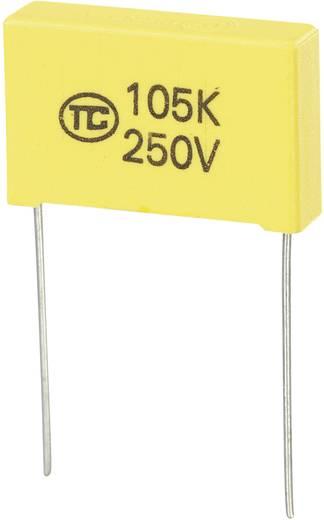MKS-foliecondensator Radiaal bedraad 1 µF 250 V/DC 5 % 22.5 mm (l x b x h) 26.5 x 6 x 15 mm 1 stuks