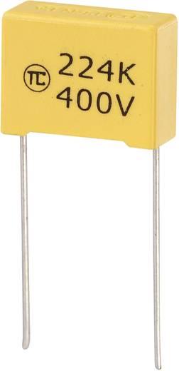 MKS-foliecondensator Radiaal bedraad 0.22 µF 400 V/DC 5 % 15 mm (l x b x h) 18 x 7.5 x 13.5 mm 1 stuks