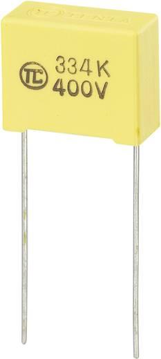 MKS-foliecondensator Radiaal bedraad 0.33 µF 400 V/DC 5 % 15 mm (l x b x h) 18 x 8.5 x 14.5 mm 1 stuks