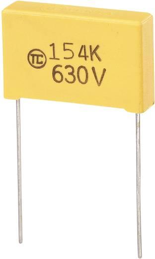 MKS-foliecondensator Radiaal bedraad 0.15 µF 630 V/DC 5 % 22.5 mm (l x b x h) 26.5 x 7 x 17 mm 1 stuks
