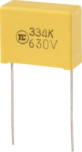 MKS-foliecondensator Radiaal bedraad 0.33 µF 630 V/DC 5 % 22.5 mm (l x b x h) 26.5 x 10 x 19 mm 1 stuks
