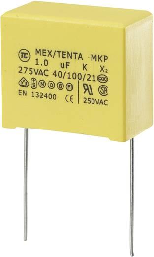 MKP-X2 MKP-X2-ontstoringscondensator Radiaal bedraad 1 µF 275 V/AC 10 % 22.5 mm (l x b x h) 26.5 x 14 x 20 mm 1 stuks