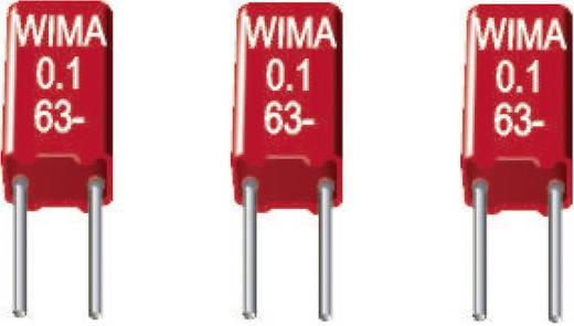 Wima MKS02 MKS-foliecondensator Radiaal bedraad 0.1 µF 63 V/DC 20 % 2.5 mm (l x b x h) 4.6 x 3 x 7.5 mm 1 stuks