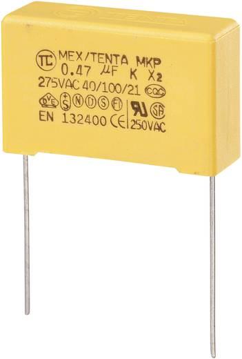 MKP-X2 MKP-X2-ontstoringscondensator Radiaal bedraad 0.47 µF 275 V/AC 10 % 27.5 mm (l x b x h) 30 x 11 x 20 mm 1 stuks