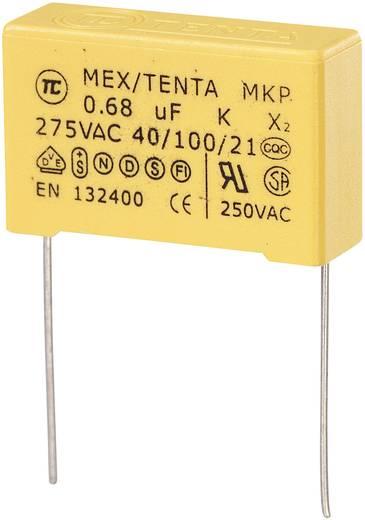 MKP-X2 MKP-X2-ontstoringscondensator Radiaal bedraad 0.68 µF 275 V/AC 10 % 27.5 mm (l x b x h) 30 x 11 x 20 mm 1 stuks