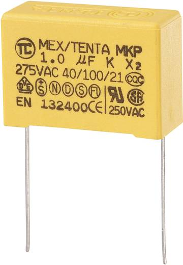MKP-X2 MKP-X2-ontstoringscondensator Radiaal bedraad 1 µF 275 V/AC 10 % 27.5 mm (l x b x h) 32 x 13 x 23 mm 1 stuks