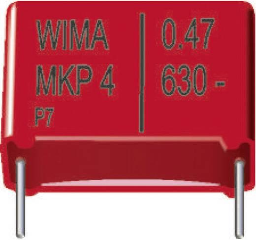 Wima MKP4 MKP-foliecondensator Radiaal bedraad 0.22 µF 630 V/DC 20 % 22.5 mm (l x b x h) 26.5 x 7 x 16.5 mm 1 stuks