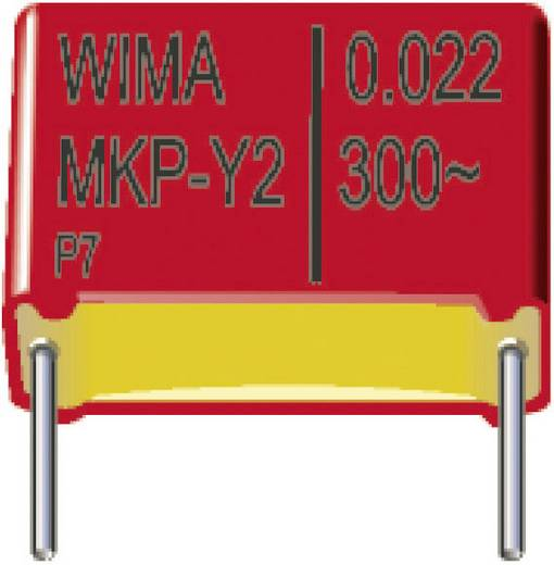 Wima MKPY2 0.022µF 300V 15 MKP-Y2-onstoringscondensator Radiaal bedraad 0.022 µF 300 V/AC 10 % 15 mm (l x b x h) 18 x 7 x 14 mm 1 stuks