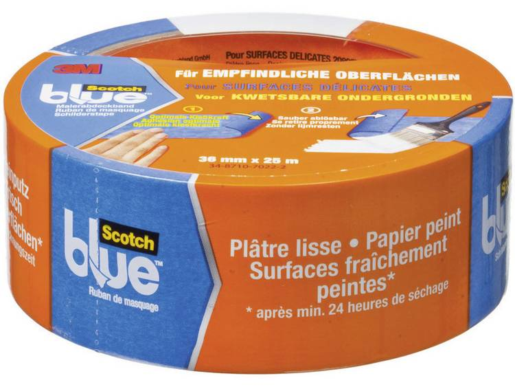 3M™ ScotchBlue™ Schilderstape voor kwetsbare ondergronden 36mm x 25m