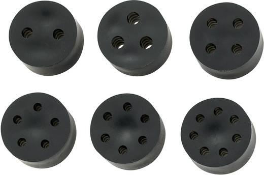 Meervoudig dicht-inzetstuk M12 Rubber Zwart KSS MH9-4A 1 stuks
