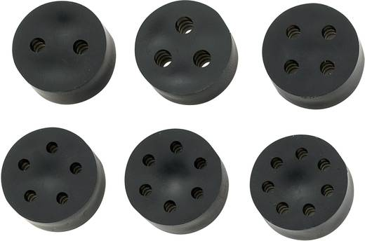 Meervoudig dicht-inzetstuk PG13.5 Rubber Zwart KSS MH16-4A 1 stuks