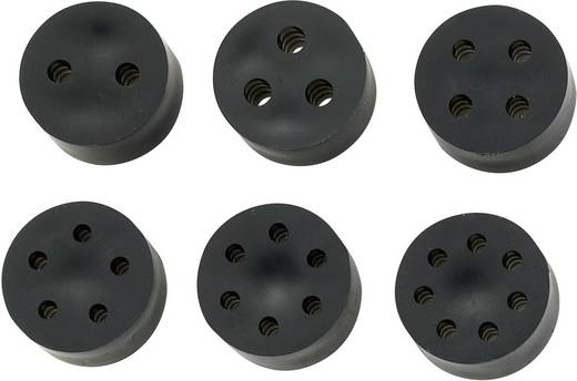 Meervoudig dicht-inzetstuk PG7 Rubber Zwart KSS MH9-4A 1 stuks