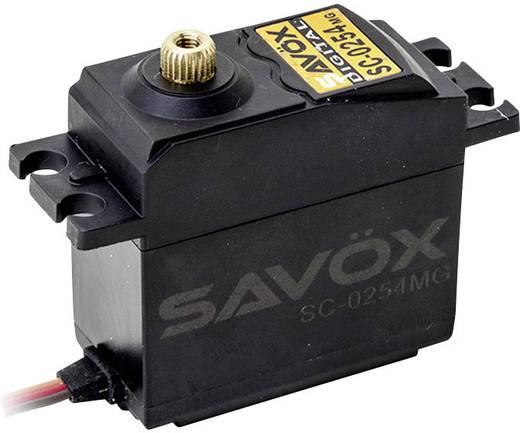 Savöx Standaard servo SC-0254MG Digitale servo Materiaal (aandrijving): Metaal Stekkersysteem: JR