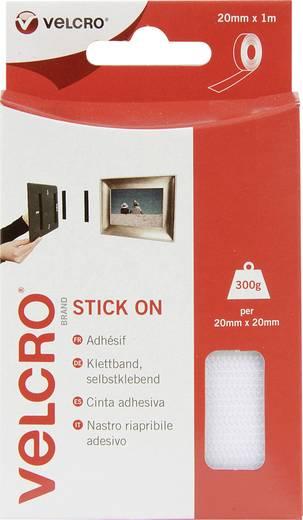 VELCRO® brand VEL-EC60210 Klittenband om vast te plakken Haak- en lusdeel (l x b) 1000 mm x 20 mm Wit 1 m