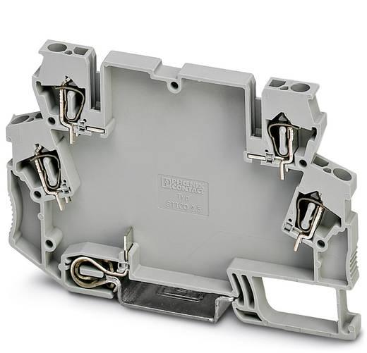 Phoenix Contact STTCO-LG 2,5/4 PE GY DIN-rail-behuizing Kunststof 50 stuks