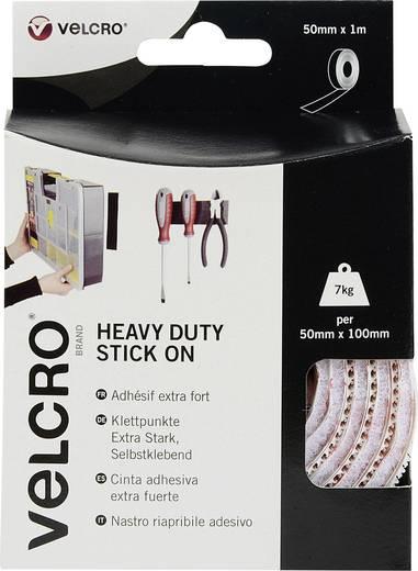VELCRO® brand VEL-EC60242 Klittenband om vast te plakken Haak- en lusdeel, Extra sterk (l x b) 1000 mm x 50 mm Wit 1 m