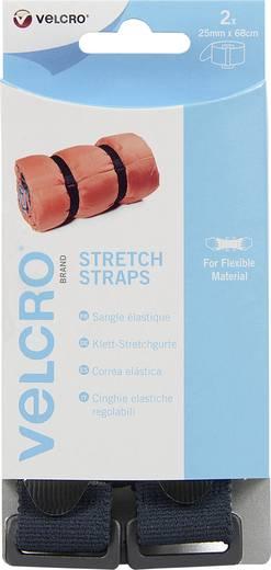 VELCRO® brand VEL-EC60324 Klittenband met riem Haak- en lusdeel (l x b) 680 mm x 25 mm Zwart 2 stuks