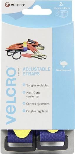 VELCRO® brand VEL-EC60328 Klittenband met riem Haak- en lusdeel (l x b) 460 mm x 25 mm Blauw 2 stuks