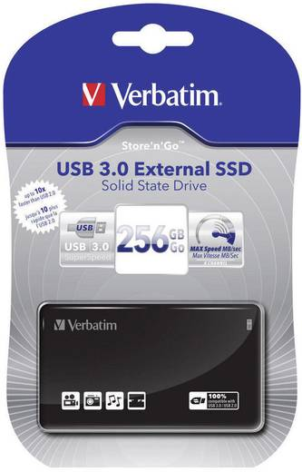 Verbatim Externe 256 GB Externe SSD harde schijf 6.35 cm (2.5 inch) USB 3.0 Zwart