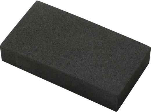 Basetech EVA9550H20 Sponsrubberen blok Zelfklevend EVA Zwart (l x b x h) 95 x 49 x 19 mm 1 stuks