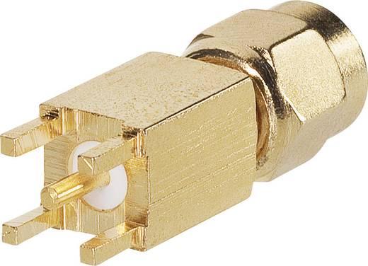 BKL Electronic 0419024 SMA-Reverse-connector Stekker, inbouw verticaal 50 Ω 1 stuks