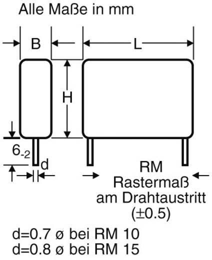 Wima MP 3 Y2 1500pF 20% 250V RM10 EMI/RFI-ontstoringscondensator MP3-Y2 Radiaal bedraad 1500 pF 250 V/AC 20 % 10 mm (l