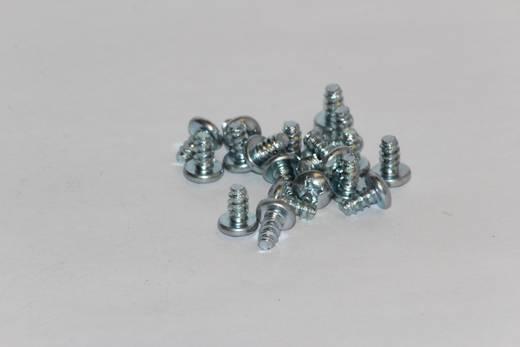 Hammond Electronics 1598ATS100 Bevestiginsschroef Staal Zilver 100 stuks