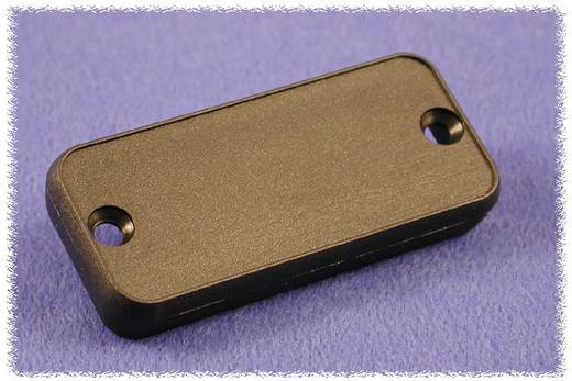 Hammond Electronics 1455QPLBK-10 Eindplaat (l x b x h) 8 x 120.5 x 51.5 mm ABS Zwart 10 stuks
