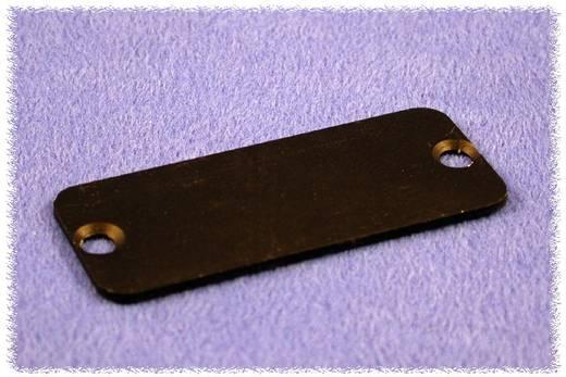 Hammond Electronics 1455QALBK-10 Eindplaat (l x b x h) 1.5 x 120.5 x 51.5 mm Aluminium Zwart 10 stuks