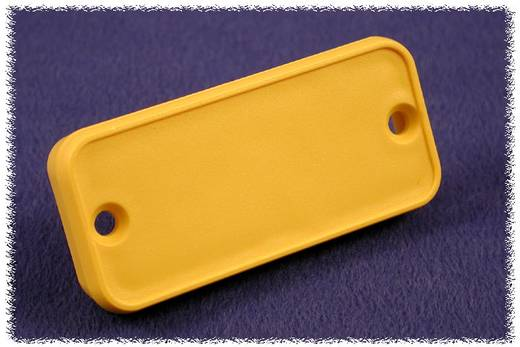 Hammond Electronics 1455PPLY-10 Eindplaat (l x b x h) 8 x 120.5 x 30.5 mm ABS Geel 10 stuks